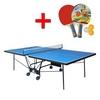 Стол теннисный складной для помещений Gk-5 синий + подарок - фото 1