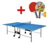 Стол теннисный складной для помещений Gp-2 зеленый + подарок - фото 1