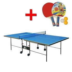 Стол теннисный складной для помещений Gp-3 зеленый + подарок