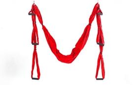 Гамак для йоги ZLT Antigravity Yoga swing FI-5323 красный