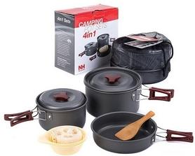 Набор посуды из анодированного алюминия на 3-4 персоны Naturehike NH15T203-G