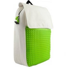 Рюкзак городской Upixel Fliplid бело-зеленый
