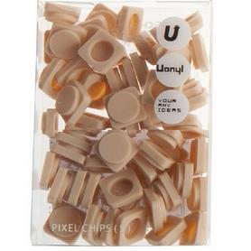 Пиксели Upixel Small кремовые