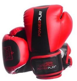 Перчатки боксерские PowerPlay 3003 Predator Tiger красные