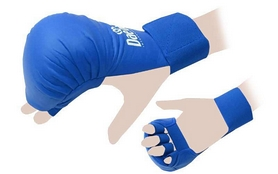 Распродажа*! Накладки (перчатки) для карате Daedo BO-5076-BL синие - размер S