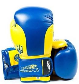 Перчатки боксерские PowerPlay 3021 Ukraine синие