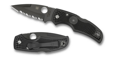 Нож складной Spyderco Native полусеррейтор