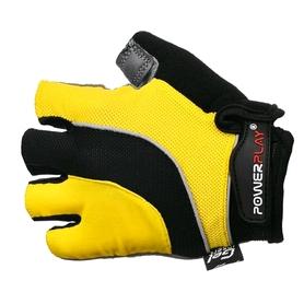 Перчатки велосипедные PowerPlay 5037 C желтые