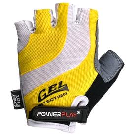 Перчатки велосипедные PowerPlay 5034 B желтые