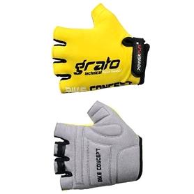 Перчатки велосипедные PowerPlay 5029 D желтые