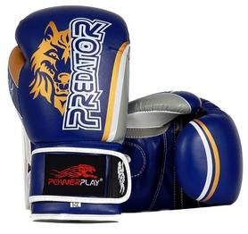 Перчатки боксерские PowerPlay 3005 Predator Wolf синие