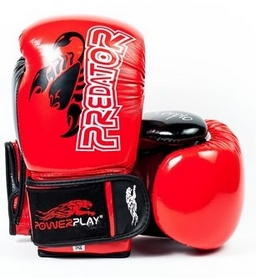 Перчатки боксерские PowerPlay 3007 Predator Scorpio красные