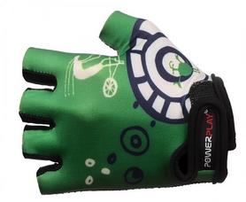 Велоперчатки детские PowerPlay 001 зеленые