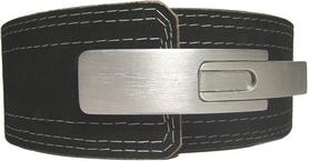 Пояс тяжелоатлетический кожаный с карабином Onhillsport OS-0401