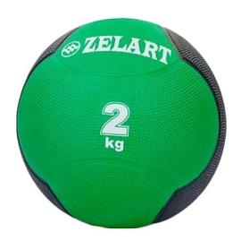 Мяч медицинский (медбол) ZLT FI-5121-2 2 кг зеленый