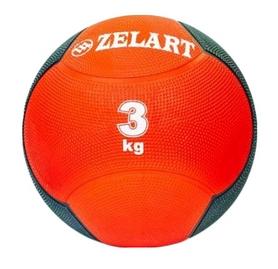 Мяч медицинский (медбол) ZLT FI-5121-3 3 кг красный