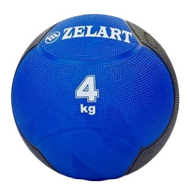 Мяч медицинский (медбол) ZLT FI-5121-4 4 кг синий