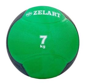 Мяч медицинский (медбол) ZLT FI-5121-7 7 кг зеленый