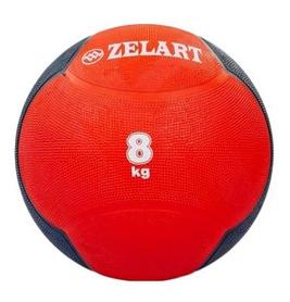 Мяч медицинский (медбол) ZLT FI-5121-8 8 кг красный