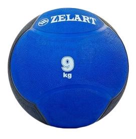 Мяч медицинский (медбол) ZLT FI-5121-9 9 кг синий