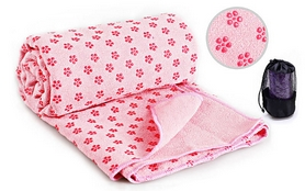 Коврик-полотенце для йоги Pro Supra Yoga mat towel FI-4938 розовый