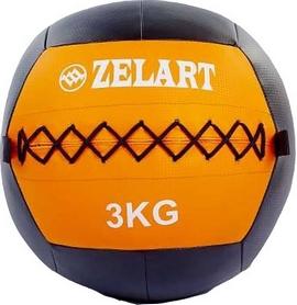 Мяч медицинский (медбол) Pro Supra Wall Ball FI-5168-3 3кг оранжевый