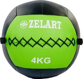Мяч медицинский (медбол) Pro Supra Wall Ball FI-5168-4 4кг зеленый