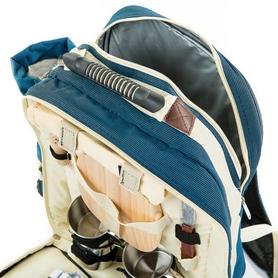 Фото 5 к товару Набор для пикника на 4 персоны СRT124 синий