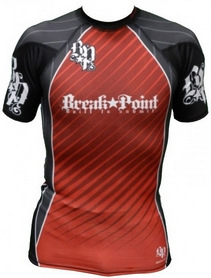 Рашгард с коротким рукавом Break Point New Rash Guard Красный