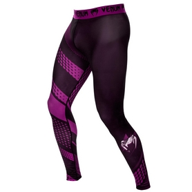 Штаны компрессионные Venum Replika Purple Spats черные