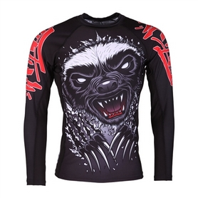 Рашгард Tatami Honey Badger V4 Rash Guard  Принт