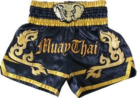 Шорты для тайского бокса Top King Muay Thai Shorts Replika Elephant черные