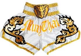 Шорты для тайского бокса Top King Muay Thai Shorts Replika Elephant белые