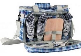 Набор для пикника на 3 персоны KingCamp Picnic Icy Bag 3 Blue Checkers
