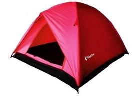 Палатка трехместная KingCamp Family 3 (KT3073) красная