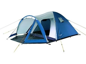 Палатка трехместная KingCamp Weekend (KT3008) голубая