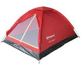 Палатка трехместная KingCamp Monodome 3(KT3010) Red