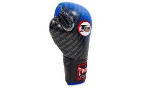 Фото 4 к товару Перчатки боксерские Twins FBGLL-TW1-BU синие