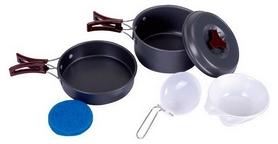 Набор посуды туристический KingCamp Climber 1 Light grey