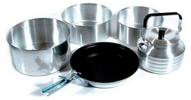 Набор посуды туристический KingCamp Camper 4 Silver