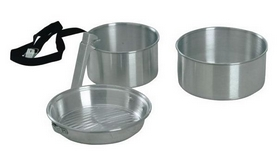Набор посуды туристический KingCamp Camper 2 Silver
