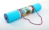 Коврик для йоги (йога-мат) ТРЕ+TC 6 мм фиолетовый - фото 3
