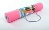 Коврик для йоги (йога-мат) ТРЕ+TC 6 мм розовый - фото 3