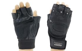 Перчатки для фитнеса ZLT BC-4381 черные - L