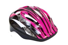 Велошлем детский ZLT SK-5610-P розово-черный