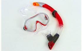 Фото 4 к товару Набор для плавания Dorfin (ZLT) (маска+трубка) красный ZP-26542-PVC-R