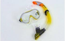 Фото 2 к товару Набор для плавания Dorfin (ZLT) (маска+трубка) желтый ZP-26542-PVC-GR