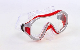 Фото 2 к товару Набор для плавания Dorfin (ZLT) (маска+трубка) красный ZP-26542-SIL-R