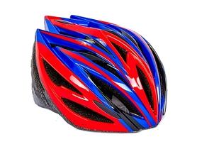 Велошлем ZLT SK-5612-4 красный-синий