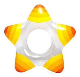 Круг надувной в форме звезды Intex 59243 (74х71 см) желто-оранжевый